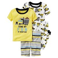 Toddler Boy Carter's Construction 4-pc. Pajama Set