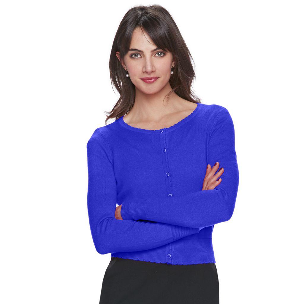 Women's ELLE™ Scalloped Cardigan