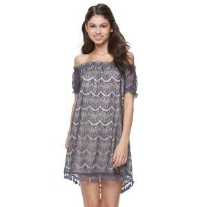 Juniors' Mason & Belle Lace Off The Shoulder Dress