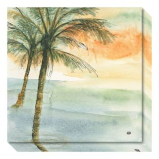 Island Sunset I Canvas Wall Art