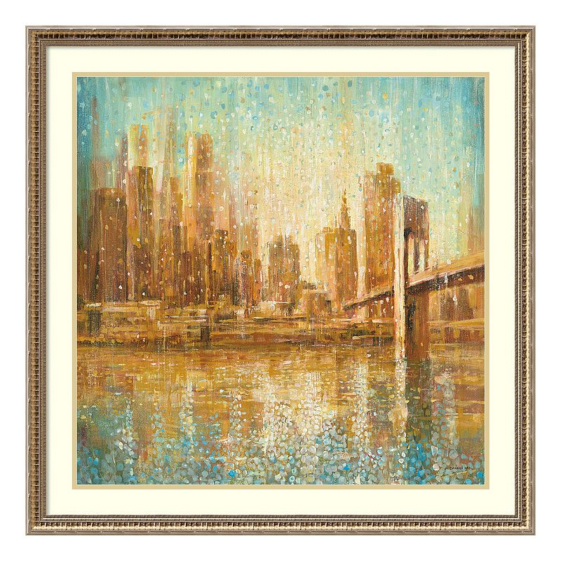Champagne City Framed Wall Art, Multicolor