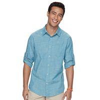 Men's Urban Pipeline® MaxFlex Roll-Tab Button-Down Shirt