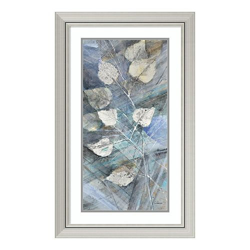 Silver Leaves I Framed Wall Art