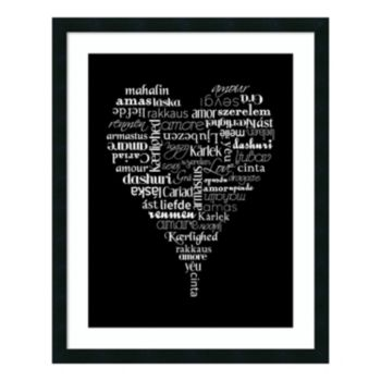 Translation of Love Framed Wall Art