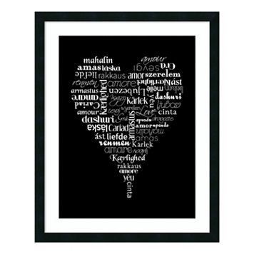 Translation of Love Framed Wall Art