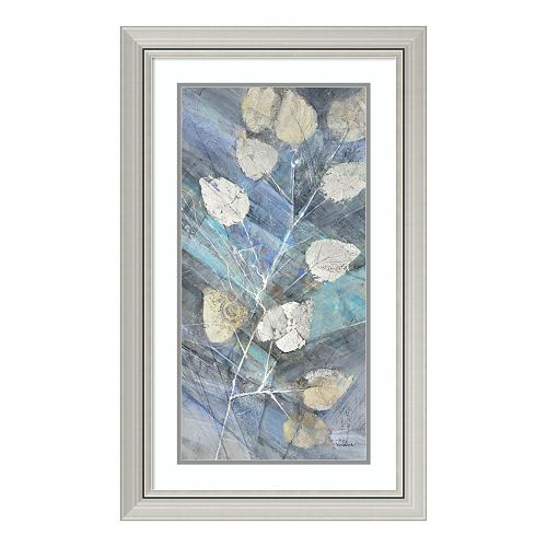 Silver Leaves II Framed Wall Art
