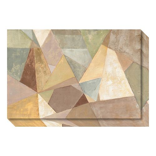 Geometric Abstract Neutral Canvas Wall Art