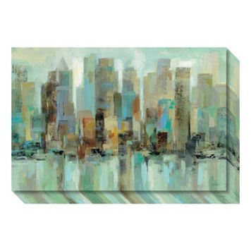 Morning Reflections Skyline Canvas Wall Art