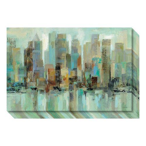 Morning Reflections Skyline Canvas Wall Art