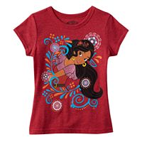 Disney's Elena of Avalor Girls 4-6x Floral Tee