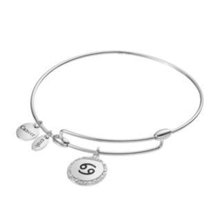 CHARMED BY DIAMONDS Sterling Silver 1/10 Carat T.W. Diamond Zodiac Bangle Bracelet