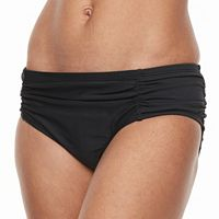 Women's Beach Scene Ruched Bikini Bottoms