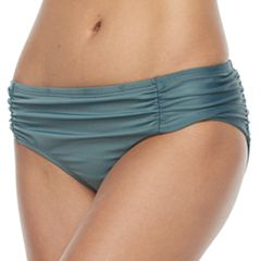 Women's Beach Scene Ruched Bikini Bottoms