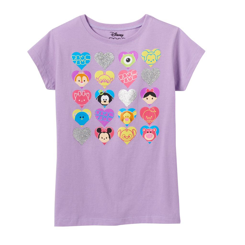 Disney's Tsum Tsum Girls 4-7 Mickey Mouse, Minnie Mouse & Goofy Graphic Tee