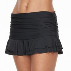 Women's Beach Scene Ruched Skirtini Bottoms