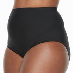 Plus Size Beach Scene High-Waisted Brief Bottoms