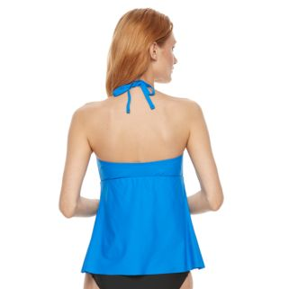 Women's Beach Scene Twist Tankini Top