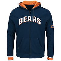 Big & Tall Majestic Chicago Bears Wordmark Full-Zip Hoodie