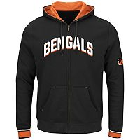 Big & Tall Majestic Cincinnati Bengals Wordmark Full-Zip Hoodie