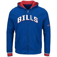 Big & Tall Majestic Buffalo Bills Wordmark Full-Zip Hoodie