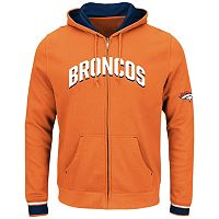Big & Tall Majestic Denver Broncos Wordmark Full-Zip Hoodie