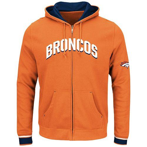 Big & Tall Majestic Denver Broncos Wordmark Full-Zip Hoodie