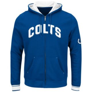 Big & Tall Majestic Indianapolis Colts Wordmark Full-Zip Hoodie