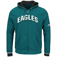 Big & Tall Majestic Philadelphia Eagles Wordmark Full-Zip Hoodie