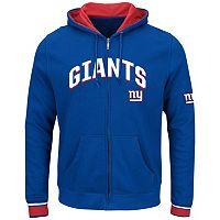 Big & Tall Majestic New York Giants Wordmark Full-Zip Hoodie