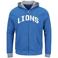 Big & Tall Majestic Detroit Lions Wordmark Full-Zip Hoodie