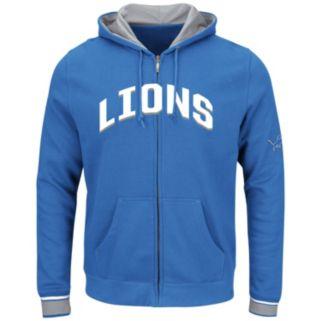 Big & Tall Majestic Detroit Lions Wordmark Full-Zip Hoodie