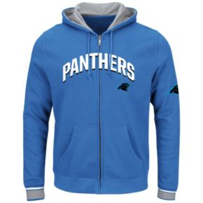Big & Tall Majestic Carolina Panthers Wordmark Full-Zip Hoodie