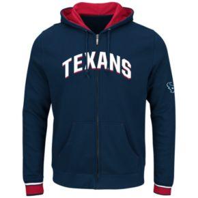 Big & Tall Majestic Houston Texans Wordmark Full-Zip Hoodie