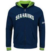 Big & Tall Majestic Seattle Seahawks Wordmark Full-Zip Hoodie