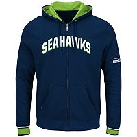 Big & Tall Majestic Seattle Seahawks Wordmark Full-Zip Hoodie