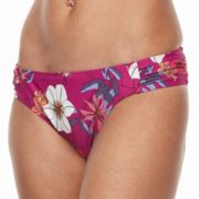 Women's Beach Scene Floral Scoop Bikini Bottoms