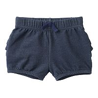 Baby Girl Jumping Beans® Ruffled Denim-Like Bubble Shorts
