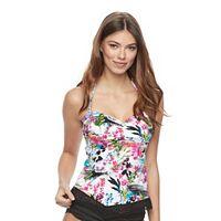 Women's Apt. 9® Crochet Floral Bandeaukini Top