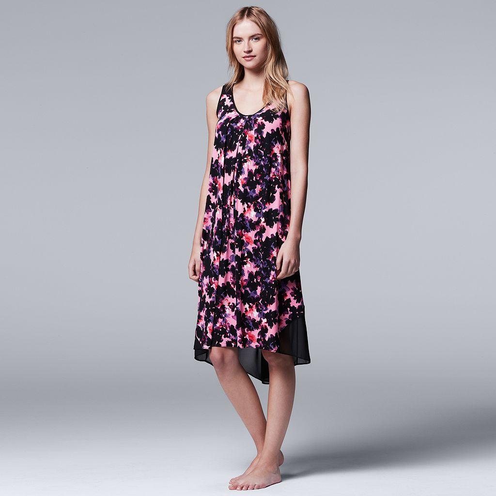 Women's Simply Vera Vera Wang Pajamas: Spring Petals Chemise