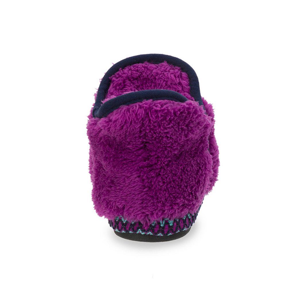 Dearfoams Girls' Fuzzy Bootie Slippers