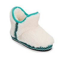 Dearfoams Girls' Fuzzy Bootie Slippers