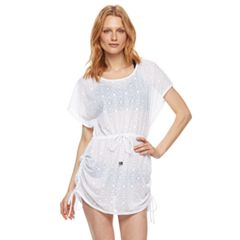 Women's Beach Scene Lace Tunic Cover-Up