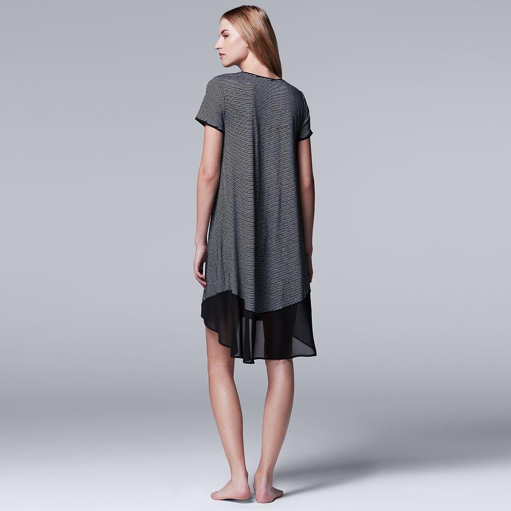 Women's Simply Vera Vera Wang Pajamas: Spring Petals Sleep Shirt