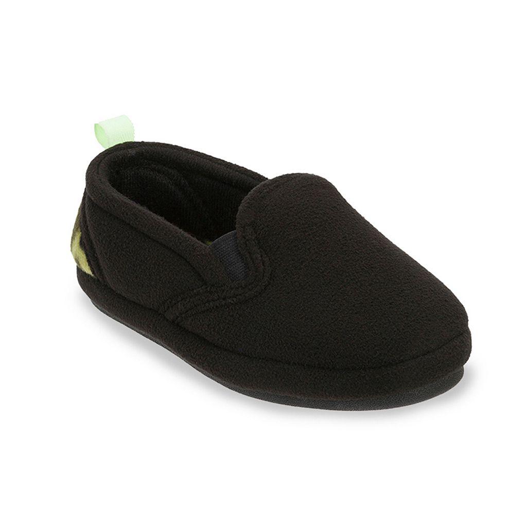 Dearfoams Boys' Plush Fleece Slippers