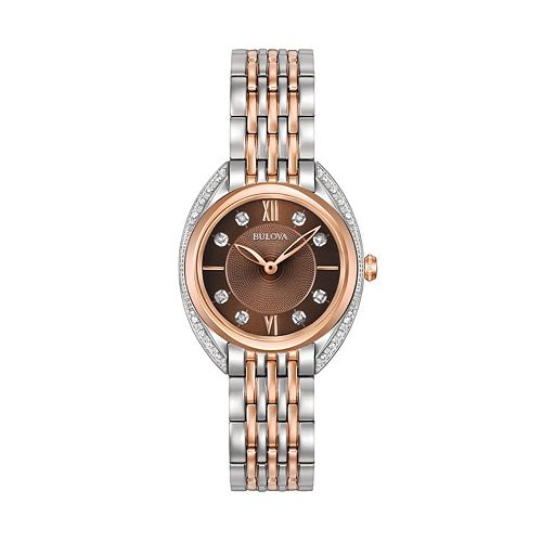 Bulova Women's Diamond Two-Tone Stainless Steel Watch