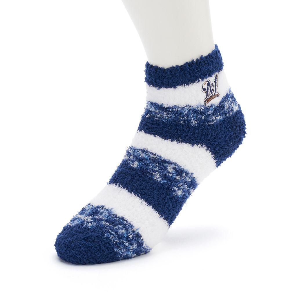 Women's For Bare Feet Milwaukee Brewers Pro Stripe Sleep Socks