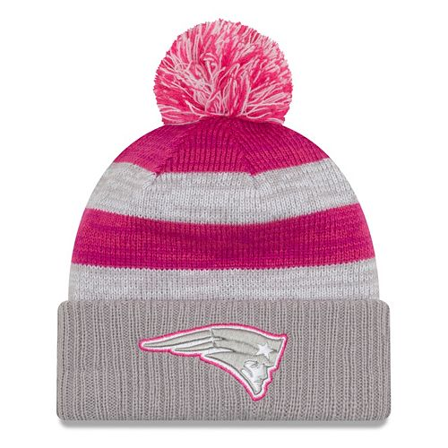 286f00a6d7a Women s New Era New England Patriots Striped Pom Pom Knit Hat