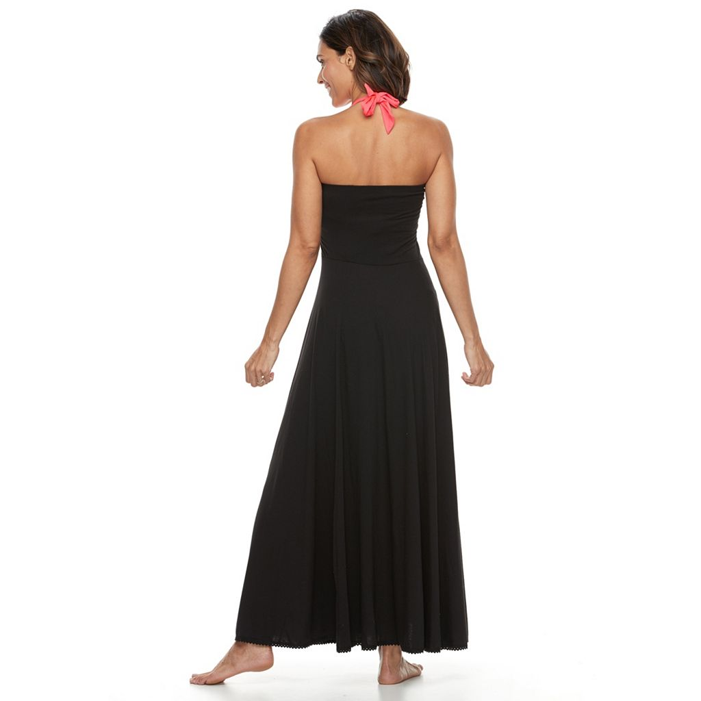 Women's Beach Scene Convertible Maxi Dress Cover-Up
