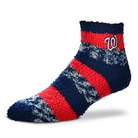Women's For Bare Feet Washington Nationals Pro Stripe Sleep Socks