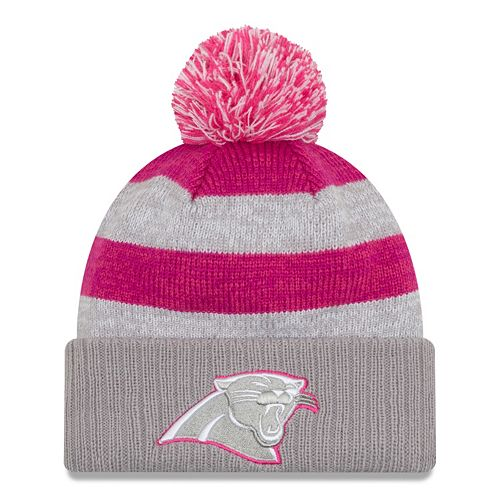 Women s New Era Carolina Panthers Striped Pom Pom Knit Hat 6928cf87b6